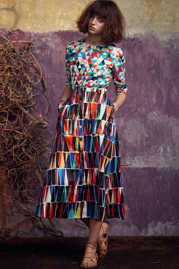 Сочетание принтов в одежде: фото 5