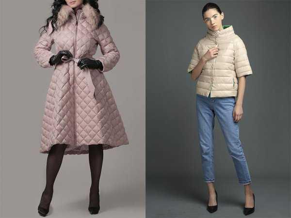 Дутое пальто и куртка