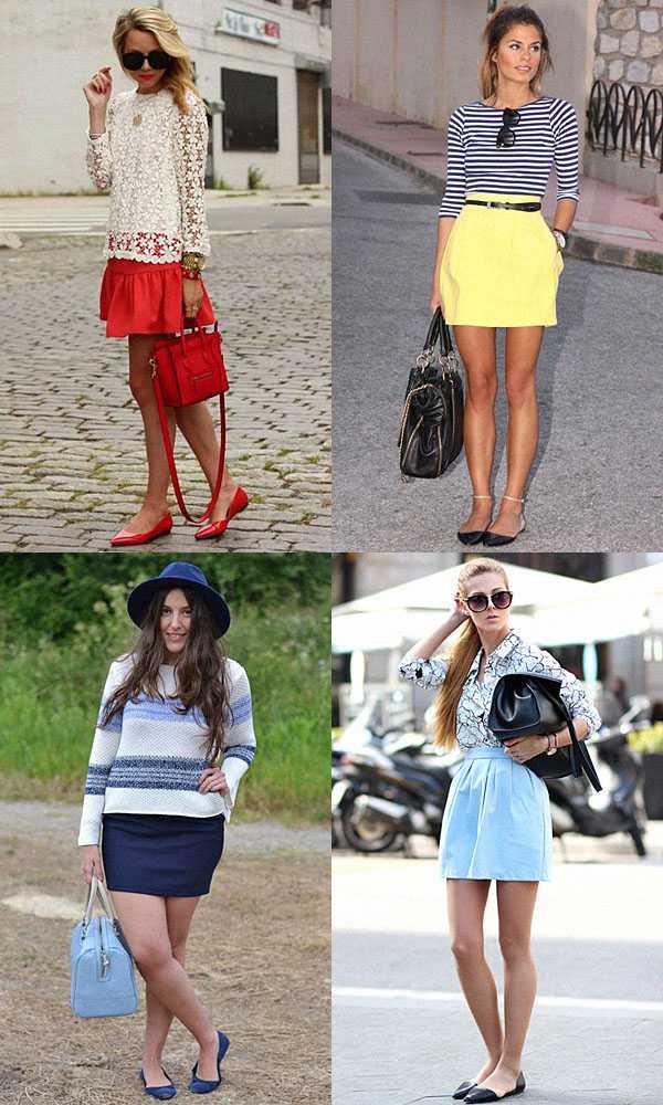 Балетки с юбками