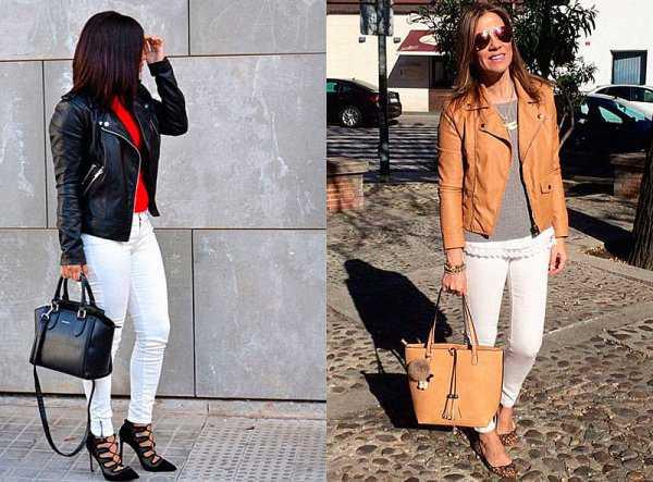 Весенние образы с белыми джинсами: фото 1