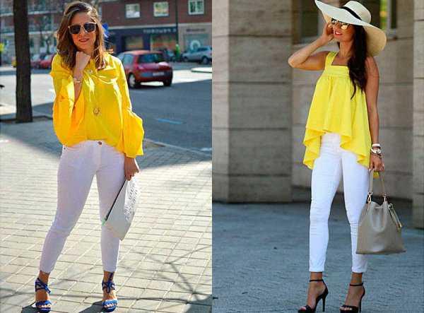 Летние образы с белыми джинсами: фото 2