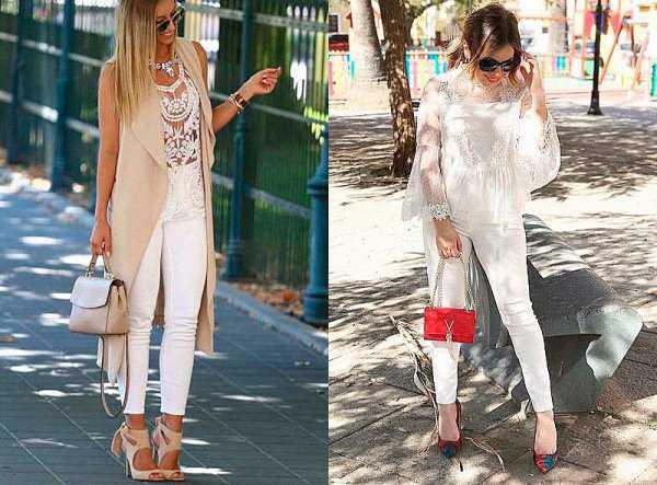 Летние образы с белыми джинсами: фото 3