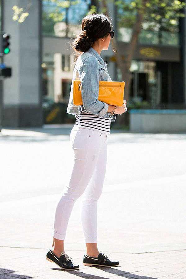 С чем носить белые джинсы: фото 1