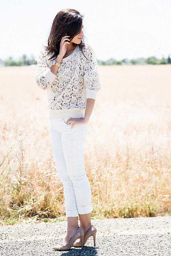 С чем носить белые джинсы: фото 2