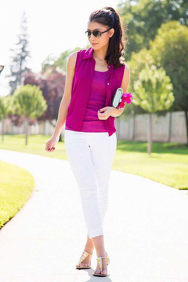 С чем носить белые джинсы: фото 3