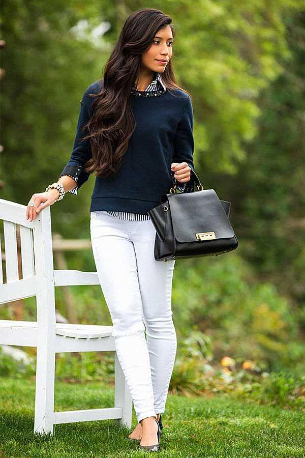 С чем носить белые джинсы: фото 4