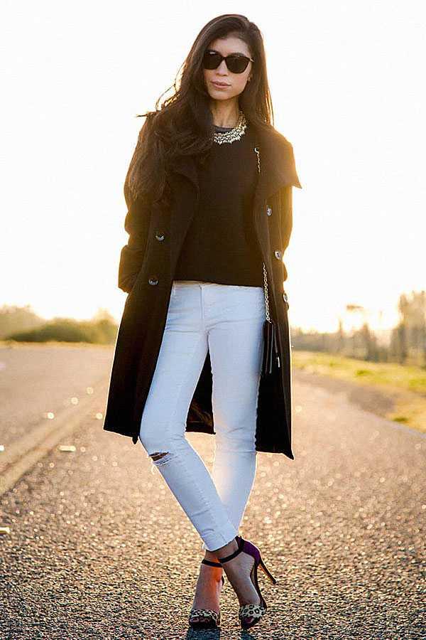 С чем носить белые джинсы: фото 5