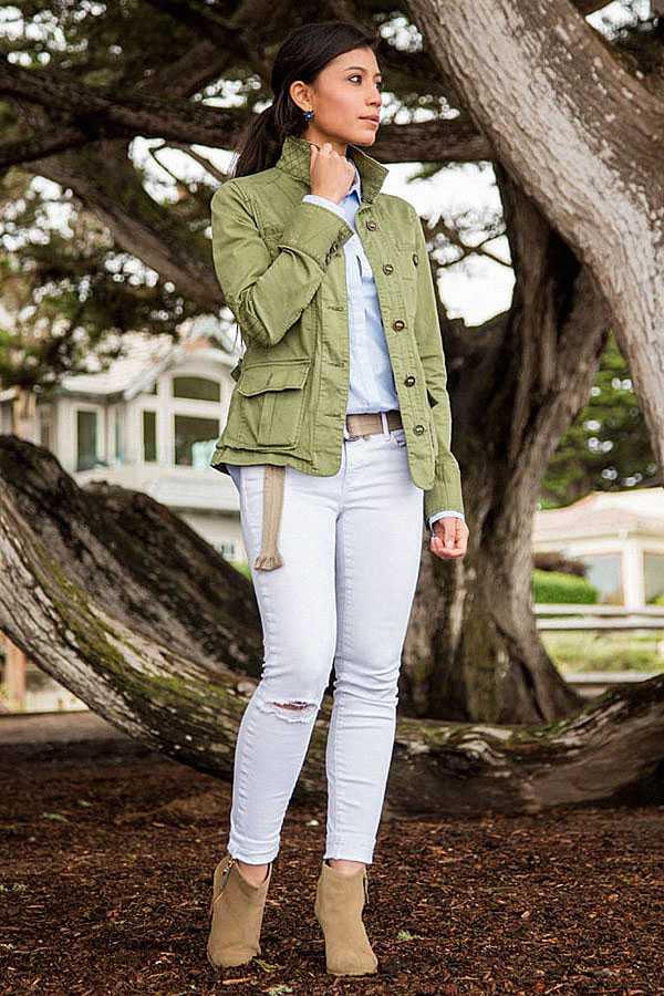 С чем носить белые джинсы: фото 6