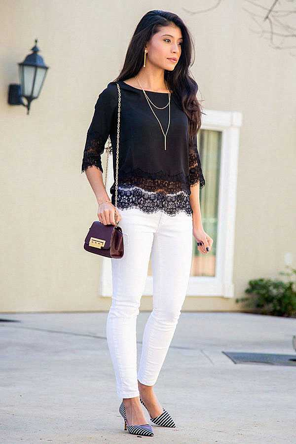 С чем носить белые джинсы: фото 7