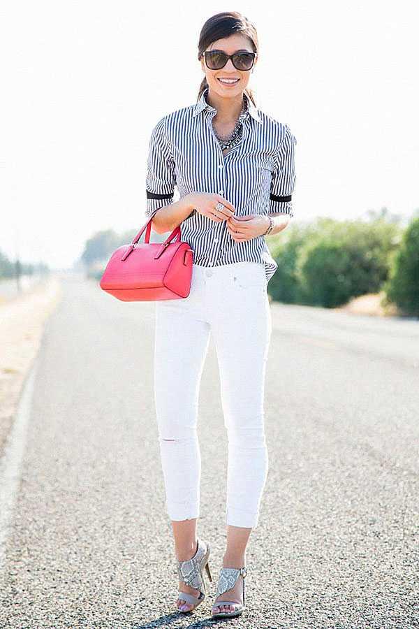 С чем носить белые джинсы: фото 9