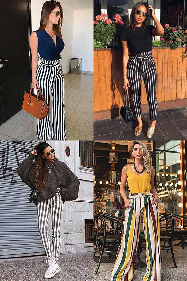 Образы с брюками в полоску