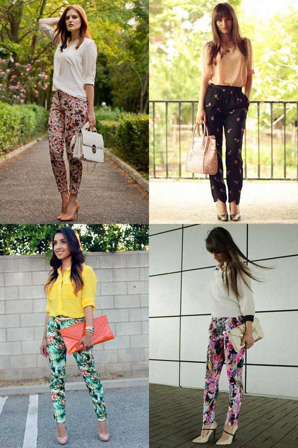 Образы в брюках с цветочным принтом: фото 2