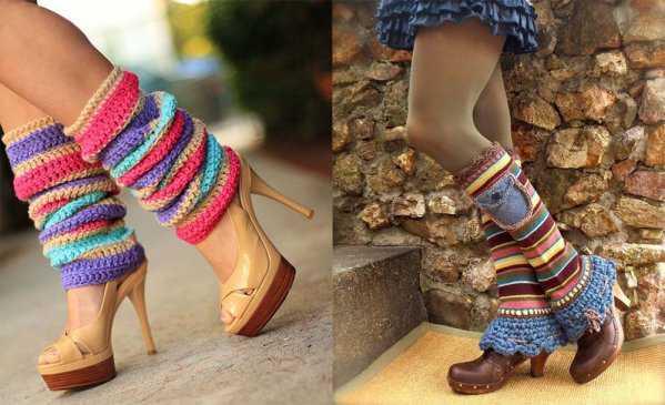 Гетры с открытыми и закрытыми туфлями