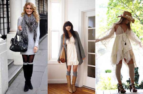 Платье и гетры