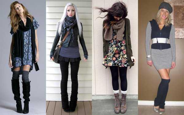 Туники и юбки с гетрами