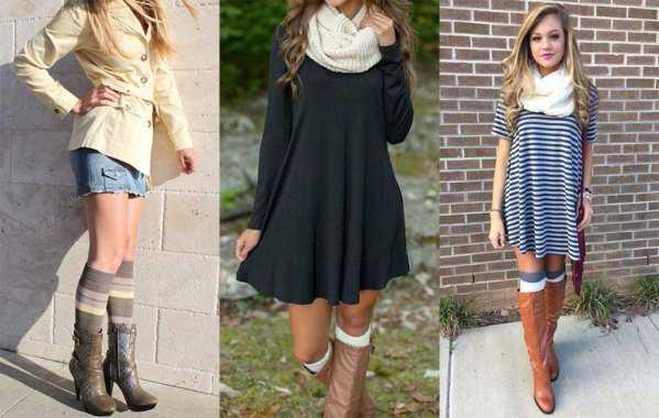 Платья и юбка с гетрами