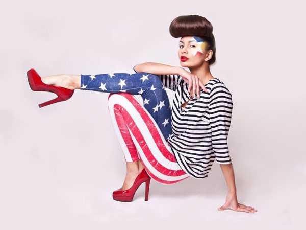 Леггинсы под американский флаг