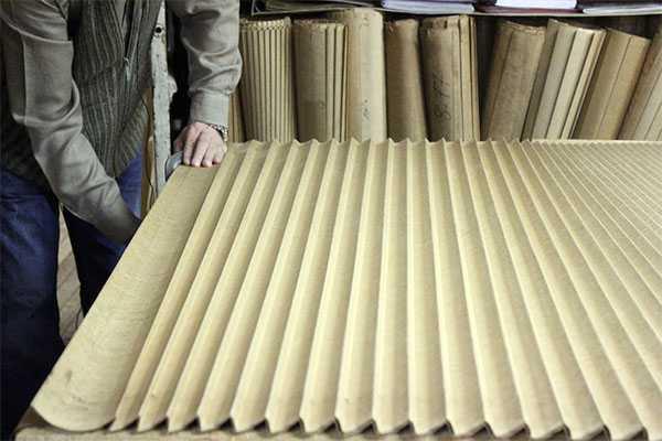 Форма для плиссировки ткани