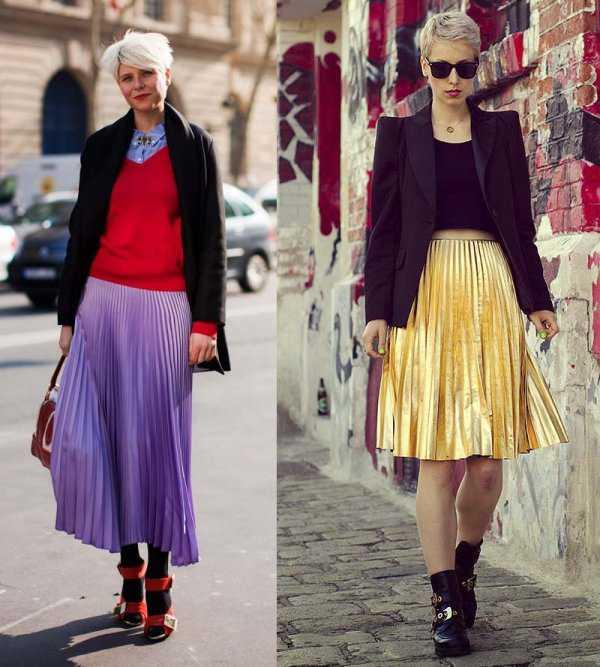 Плиссированная юбка и жакет
