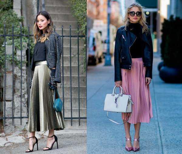 с чем носить плиссированную юбку металлик фото 1